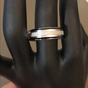 Men's stainless steel ring size 10.5